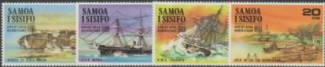 Samoa SG341-4 Great Apia Hurricane of 1889 set of 4